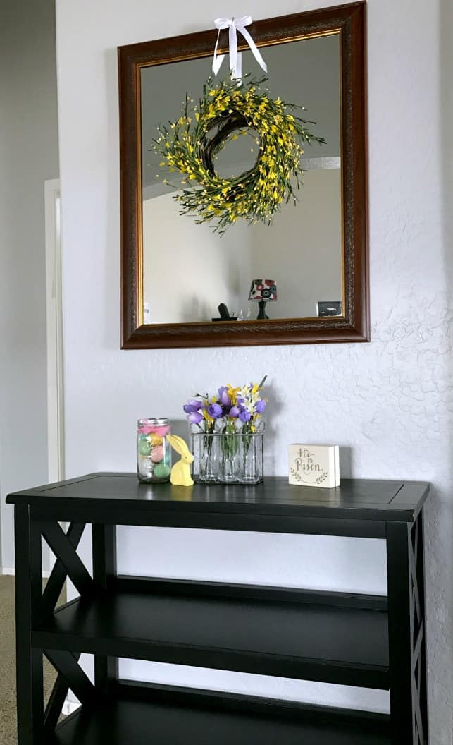 simple spring entryway