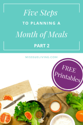 Plan A Month of Meals – Part 2