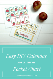 Easy DIY Calendar Pocket Chart – Apple Theme