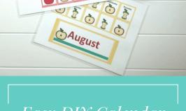 Easy DIY Calendar Pocket Chart – Apple Theme