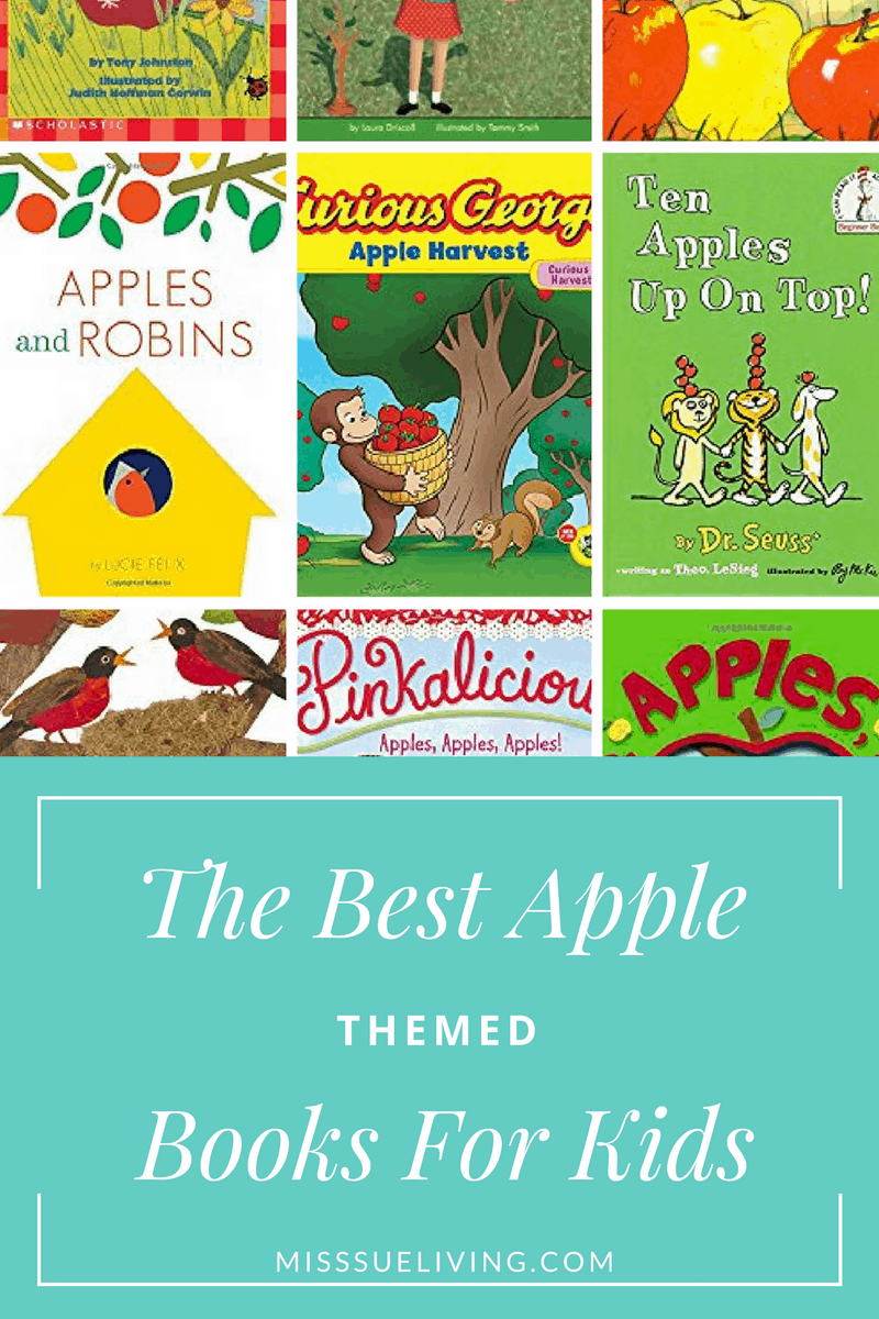 The Best Apple Themed Books For Kids, apple theme, apple books, preschool apple theme, apple unit, apple size sorting, apple printable