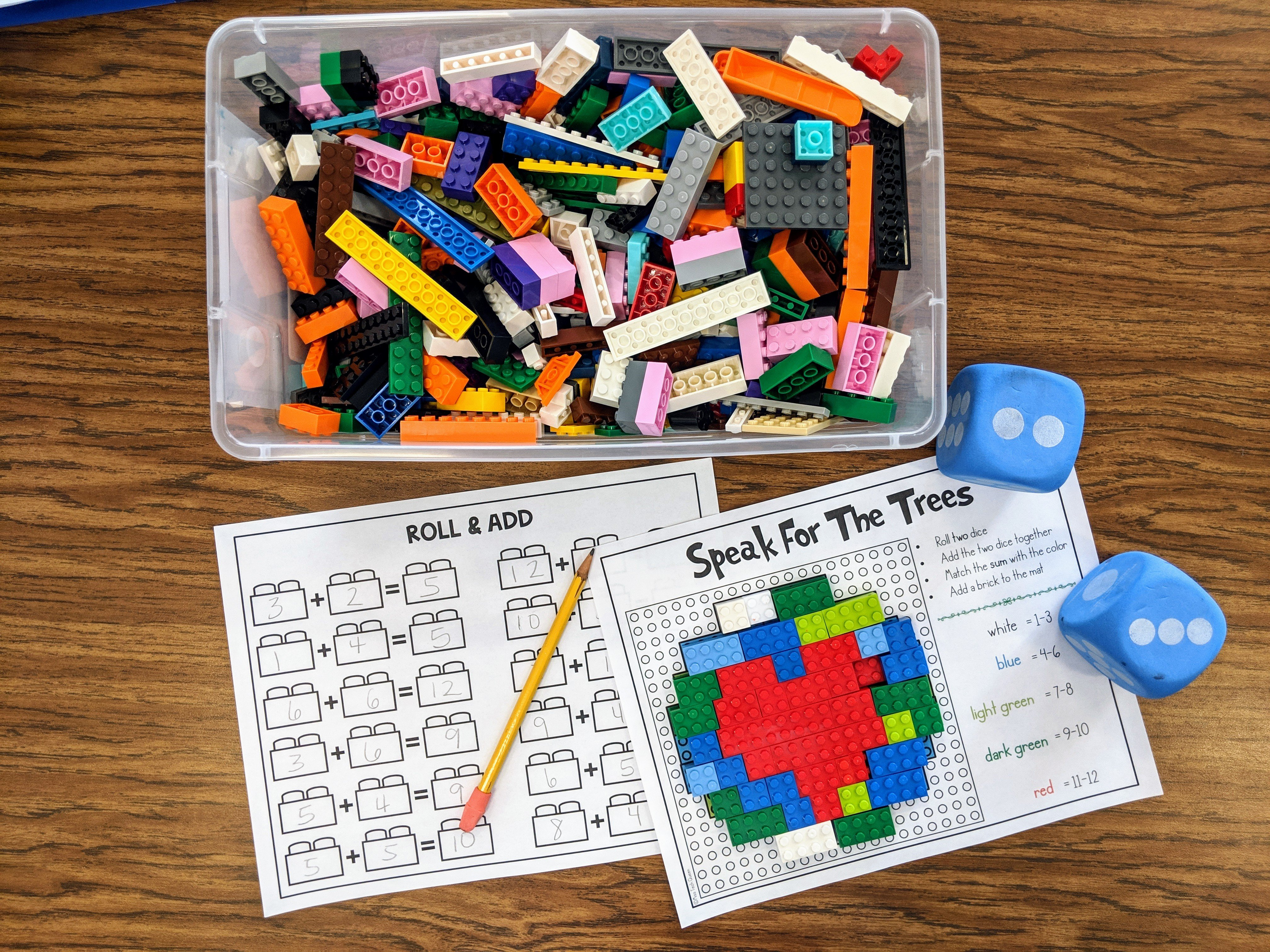 Building With Math Building Brick Activities Miss Tech