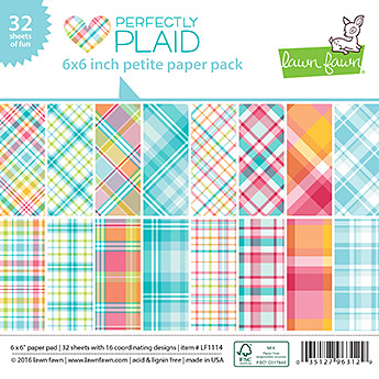 Miss Tiina for Lawn Fawn - Perfectly Plaid Petite Paper Pack