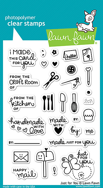 Miss Tiina for Lawn Fawn - Just For You Stamps