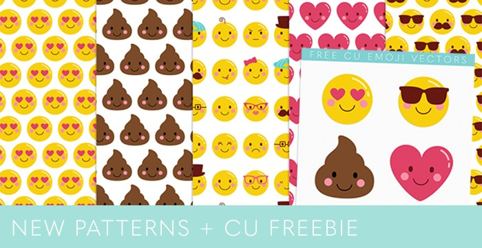 NEW CHEEKY EMOJI FACES PATTERNS + CU FREEBIE