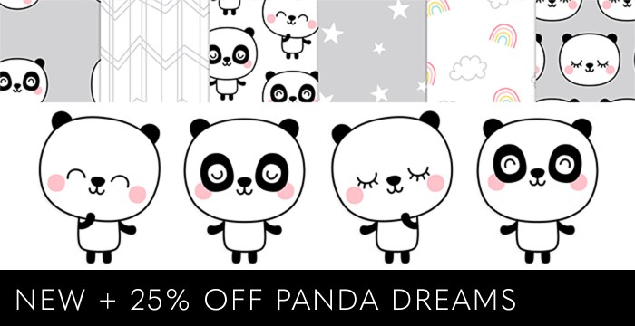 NEW PANDA DREAMS PATTERNS + VECTORS 25% OFF
