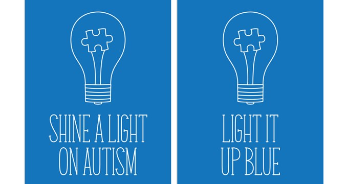 Shine a Light on Autism – Free Printable Journal Cards