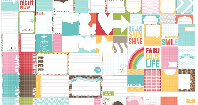 Everyday Collection {CU} + 128 FREE Printable Journal Cards
