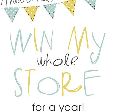 I'm giving away my whole store – for a year