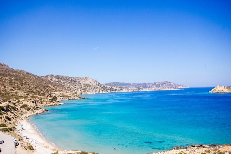 Pláž Damatria na jihu ostrova.