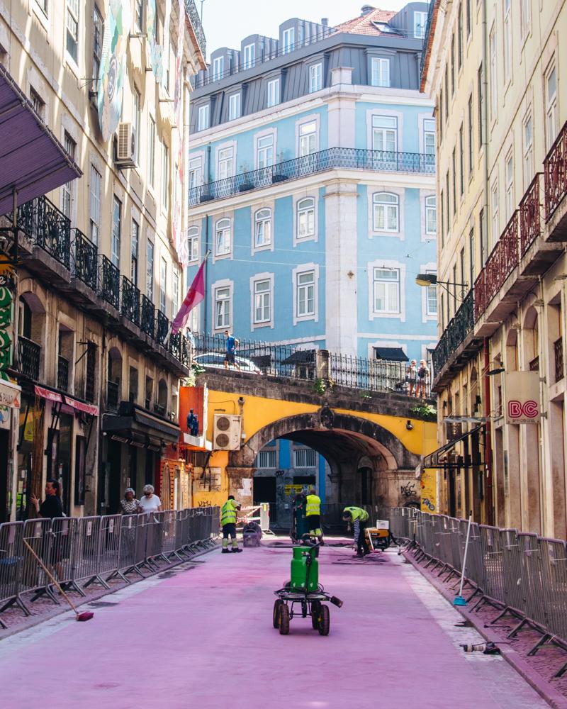 Pink Street, Lisbon
