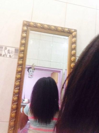70% airdried hair