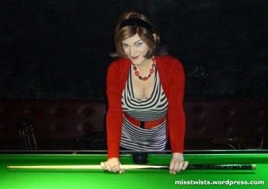 I'm so bad at snooker, I can't even hold the cue properly...