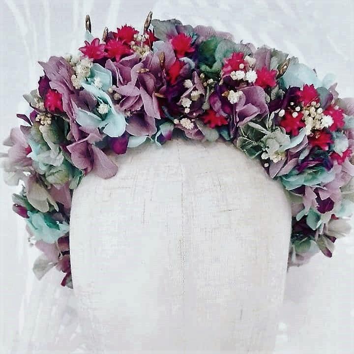 Corona Hada flores preservadas 2