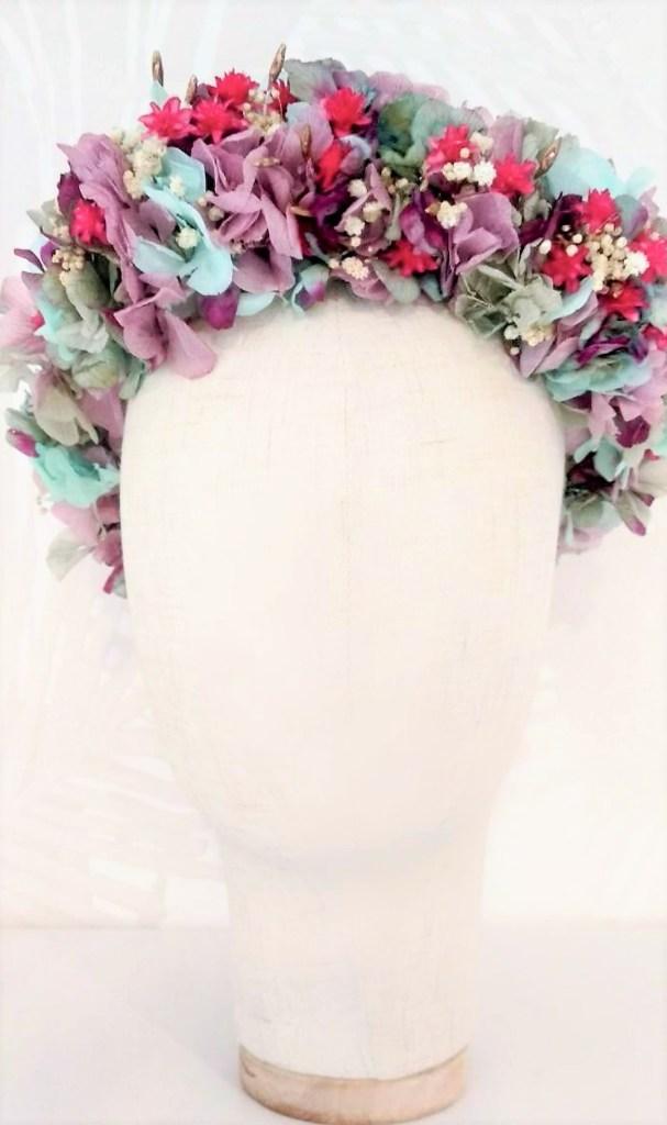 Corona Hada flores preservadas