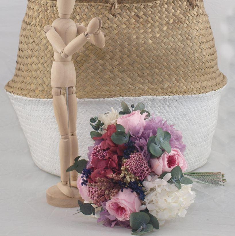 Ramo de novia flores preservadas Lily Rose 3