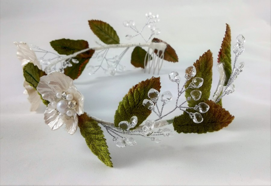 corona joya  novia boda