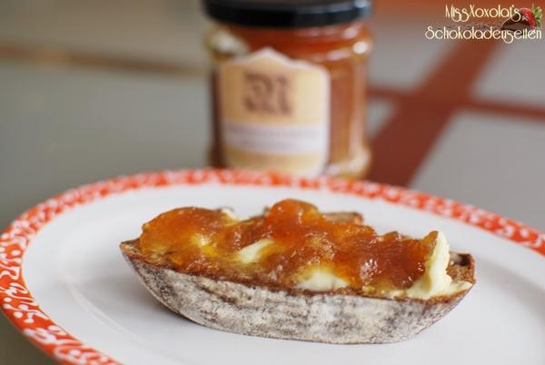 Birnen-Karamell-Marmelade mit Fleur de Sel. Konfitüre