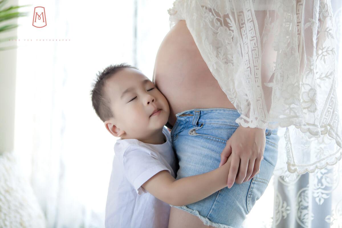 孕婦寫真,女攝影師,孕媽咪,大寶,孕婦禮服