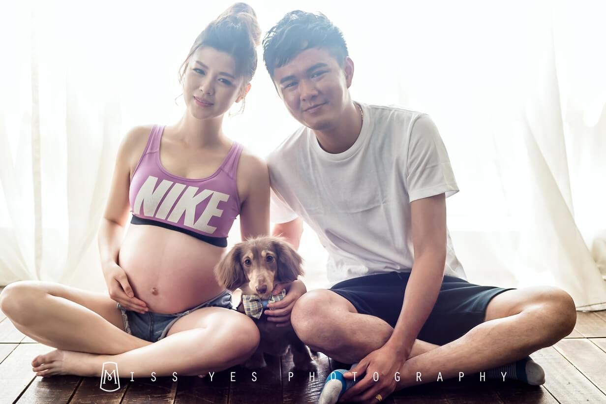 孕婦寫真,女攝影師,孕媽咪,寵物,全家福