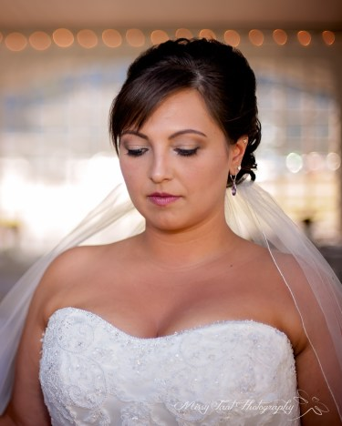 Bria at her wedding at Wind Mountain Ranch