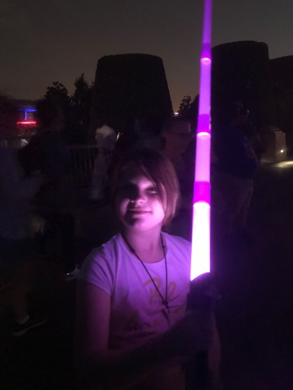 Of COURSE we built our own lightsabers in teh Magic Kingdom!