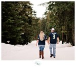 Jessica and John's Snowy Engagement Session