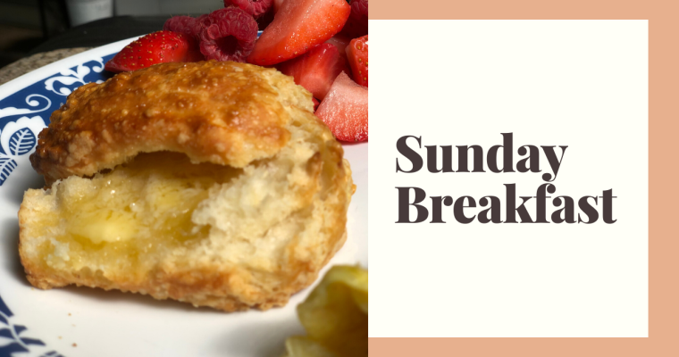 Our Lazy Sunday Traditions | Coffee, Eggs, & Sourdough Biscuitsi
