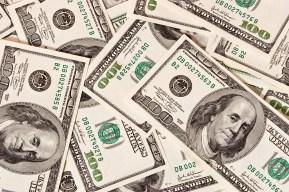 money series: hudreds of green dollar texture