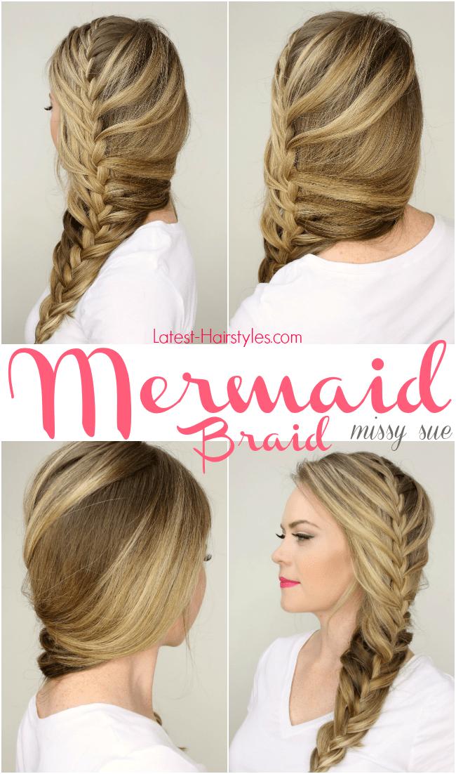 Stupendous Mermaid Braid Tutorial Hairstyles For Men Maxibearus