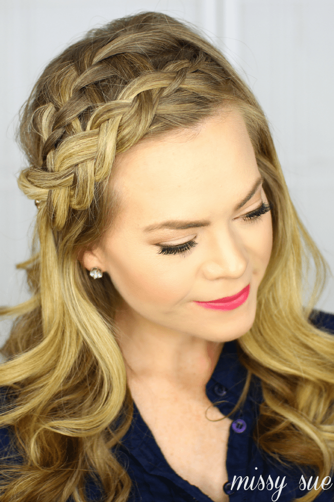 Four Headband Braids is a tutorial that will teach you how to do a French Braid Headband, Lace Braid Headband, Dutch Braid Headband, and Half Dutch Braid Headband. Free tutorial with pictures on how to style a crown braid in under 10 minutes by hairs.