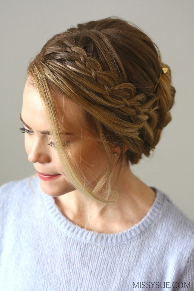 Four Strand Braid Updo Missy Sue