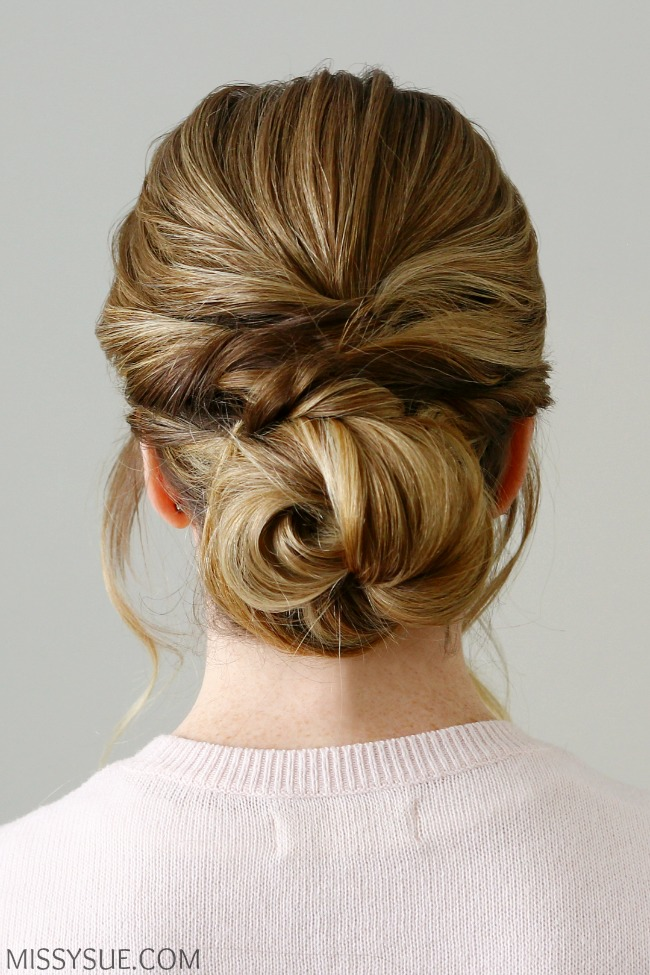 Twisted Knot  Low Bun MISSY SUE