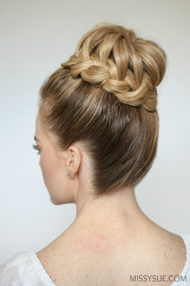 braided hair bun styles braid high bun sue 7753