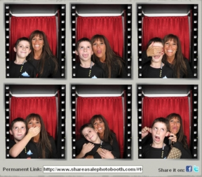 Missy Ward and her son Alex in the ShareASalePhotoBooth