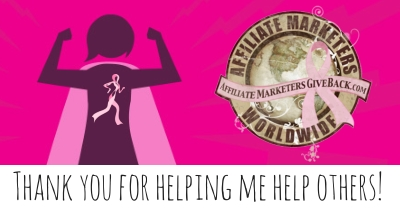 Thank you for helping me help others.  Please donate to http://iwalkforboobies.com