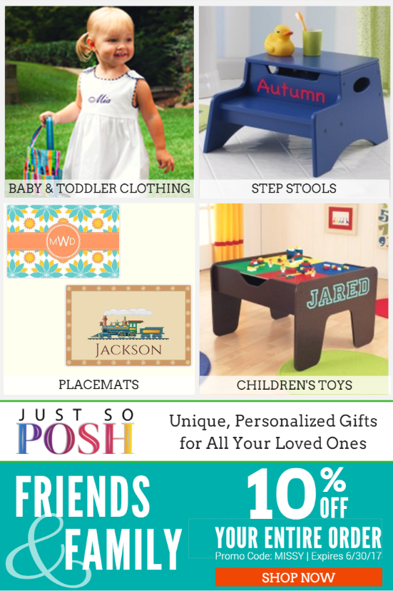 JustSoPosh   Save 10% on Personalized Gifts for Loved Ones
