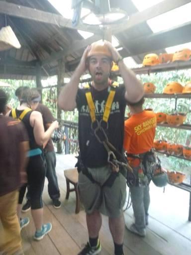 Fancies himself George of the Jungle