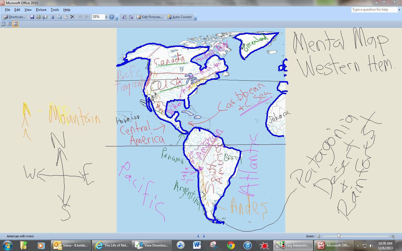 Mental Map Of The Western Hemisphere