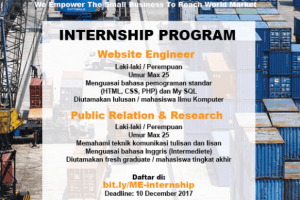 Mister Exportir Internship Program paling bagus