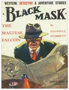 Cover of Black Mask magazine featuring the Maltese Falcon