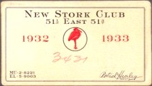 membership card for a speakeasy