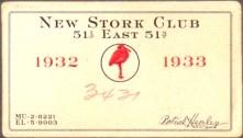 membership card for a speakeasy