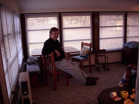 My brother now, in my summer cottage sunroom.