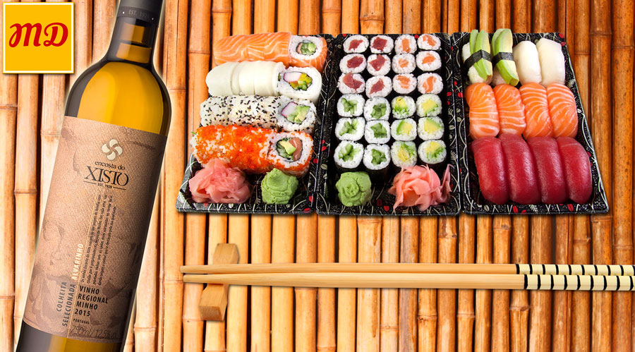 Alvarinho wine pairing with sushi