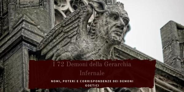 Demoni: la gerarcjia infernale della Goetia.