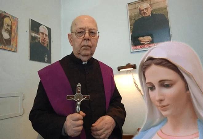 Padre Amorth e il suo legame di fede nella Madonna.