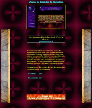 Antiguo misterium.net 2004