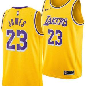 Youth Los Angeles Lakers Yellow Jersey