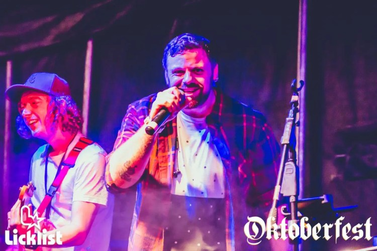 Oktoberfest band rocking out